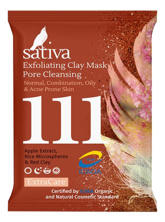 Маска-гоммаж для очищения пор лица Exfoliating Clay Mask Pore Cleansing No111 15мл маска для лица pore designing minimizing mask сужение пор 100г
