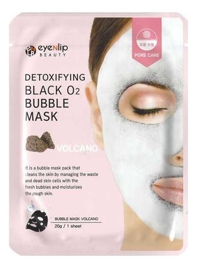 Купить Очищающая пузырьковая маска с вулканическим пеплом Detoxifying Black O2 Bubble Mask Volcano 20г, Eyenlip