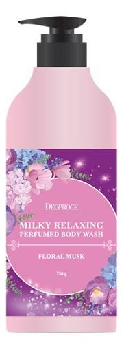 Купить Гель для душа Milky Relaxing Perfumed Body Wash Floral Musk 750г, Deoproce