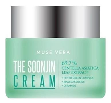 Успокаивающий крем с экстрактом центеллы азиатской Muse Vera The Soonjin Cream 50мл недорого
