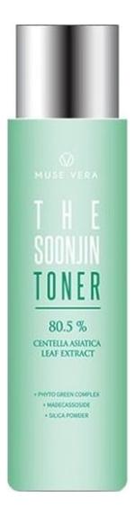 Купить Успокаивающий тонер с экстрактом центеллы азиатской Muse Vera The Soonjin Toner 200мл, Deoproce