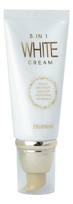 Многофункциональный осветляющий крем для лица 5 In 1 White Cream 50г недорого