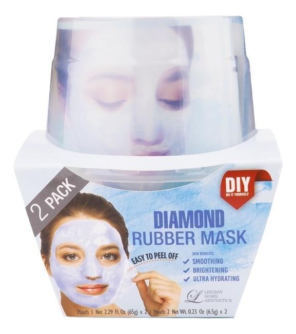 Альгинатная маска для лица с алмазной пудрой Diamond Rubber Mask (пудра 2шт + активатор 2шт)