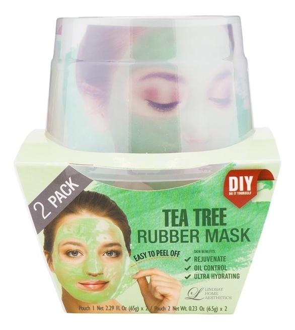 Фото - Альгинатная маска для лица с маслом чайного дерева Tea-Tree Rubber Mask (пудра 2шт + активатор 2шт) альгинатная маска для лица с маслом чайного дерева cool tea tree modeling mask cup pack 28г