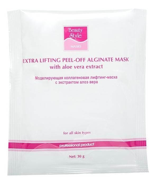 Купить Моделирующая коллагеновая лифтинг-маска с экстрактом алоэ вера Extra Lifting Peel-Off Alginate Masks 30г: Маска 1шт, Beauty Style