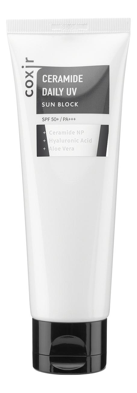 Солнцезащитный крем с керамидами Ceramide Daily UV Sun Block SPF50+ PA+++ 80мл недорого