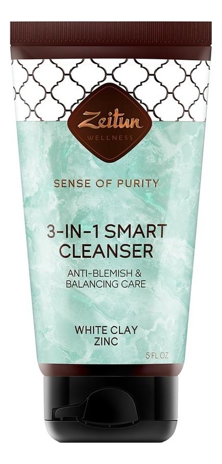 Купить Очищающий гель для проблемной кожи лица Ритуал чистоты 3 в 1 150мл, Zeitun