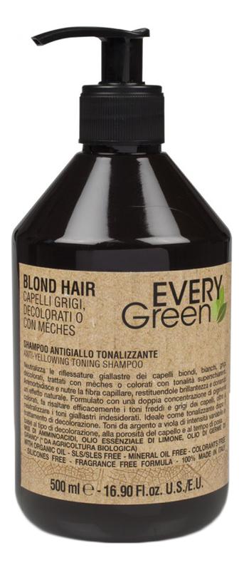 Купить Шампунь для светлых волос против желтизны Every Green Blond Hair Anti-Yellowing Toning Shampoo: Шампунь 500мл, Dikson