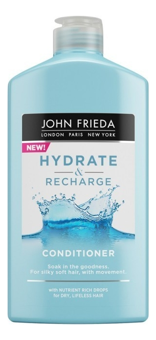Купить Увлажняющий кондиционер для волос Hydrate & Recharge Conditioner 250мл, Увлажняющий кондиционер для волос Hydrate & Recharge Conditioner 250мл, JOHN FRIEDA