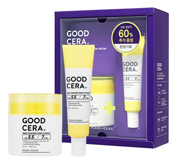 Купить Крем-сыворотка для лица с керамидами Good Cera Super Ceramide Cream In Serum 50/30мл, Holika Holika