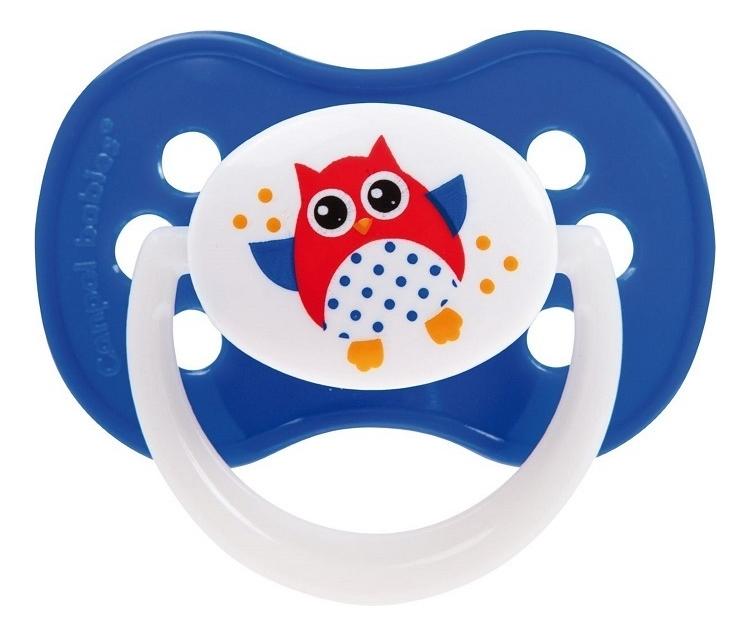 Пустышка симметричная силиконовая 0-6 мес Owls, Canpol Babies  - Купить