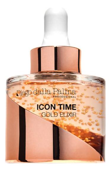 Купить Интенсивно-омолаживающая сыворотка для лица с коллоидным золотом Icon Time Gold Elixir 30мл, Diego dalla Palma