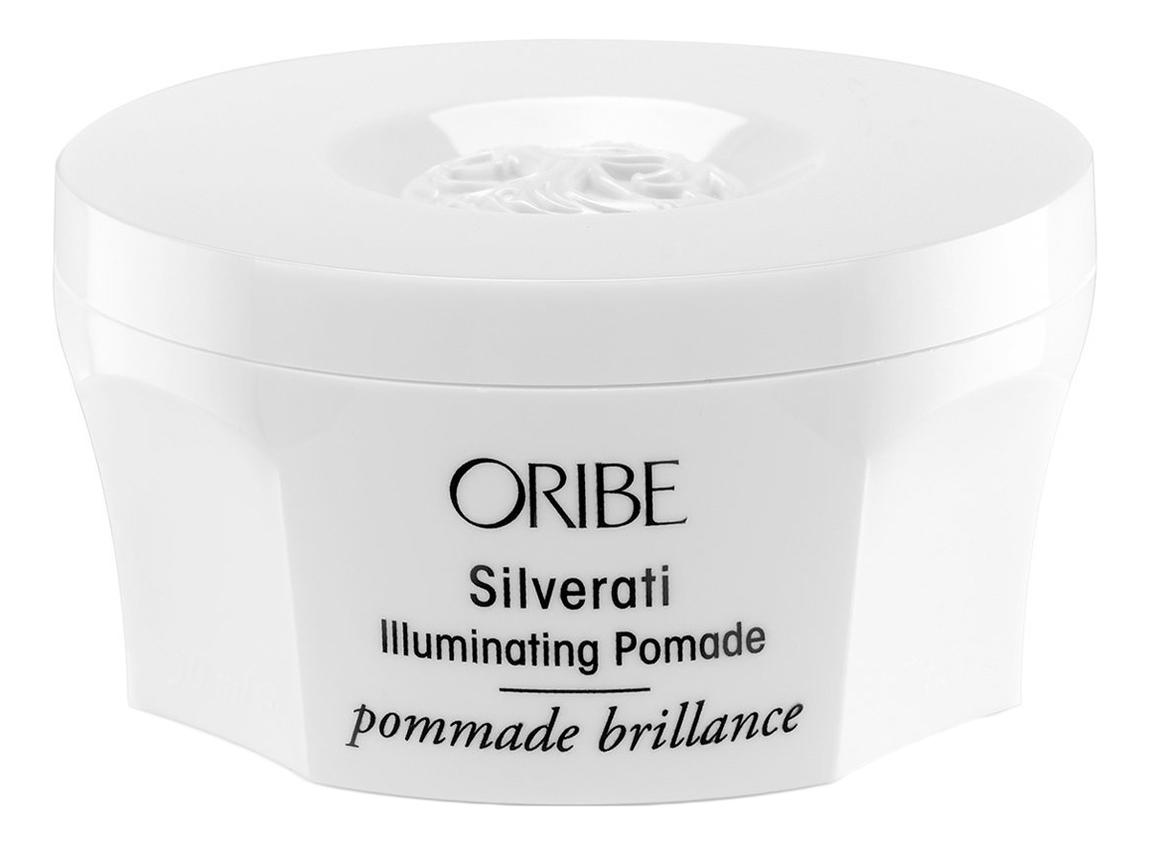 Помада-блеск для окрашенных в пепельный и седых волос Silverati Illuminating Pomade 50мл шампунь для окрашенных в пепельный и седых волос благородство серебра oribe silverati shampoo 250 мл
