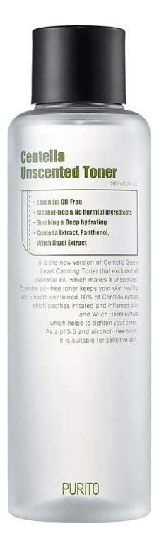 Купить Тонер для лица с экстрактом центеллы азиатской Centella Unscented Toner 200мл, PURITO