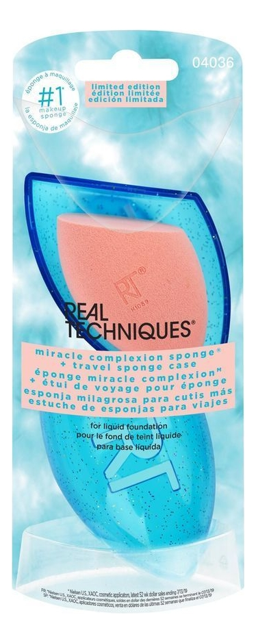 Спонж для макияжа и футляр для хранения Miracle Complexion Sponge + Travel Case недорого