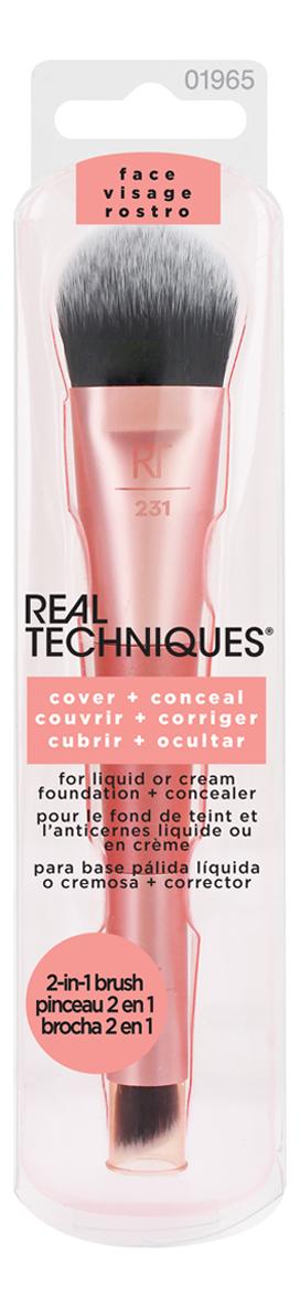 Купить Кисть для консилера и тональной основы 2 в 1 Smooth + Conceal, Real Techniques