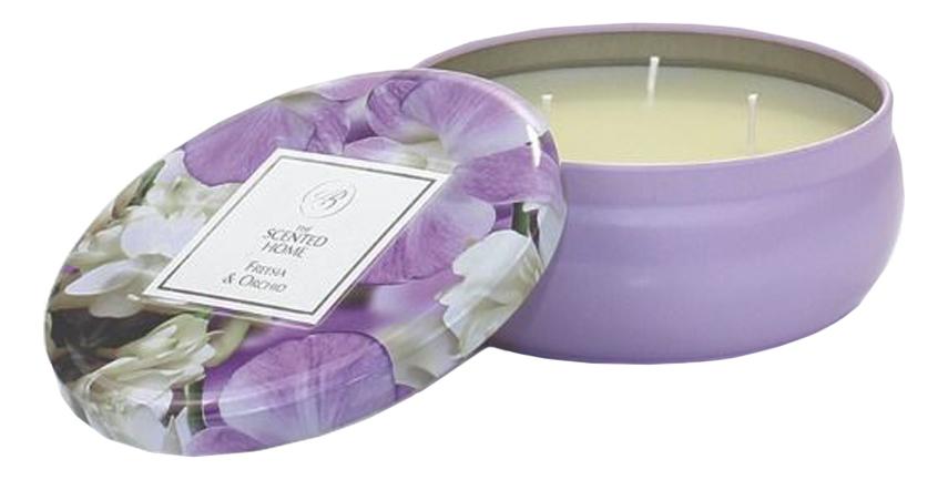 Купить Ароматическая свеча Freesia & Orchid: свеча 230г, Ароматическая свеча Freesia & Orchid, Ashleigh&Burwood