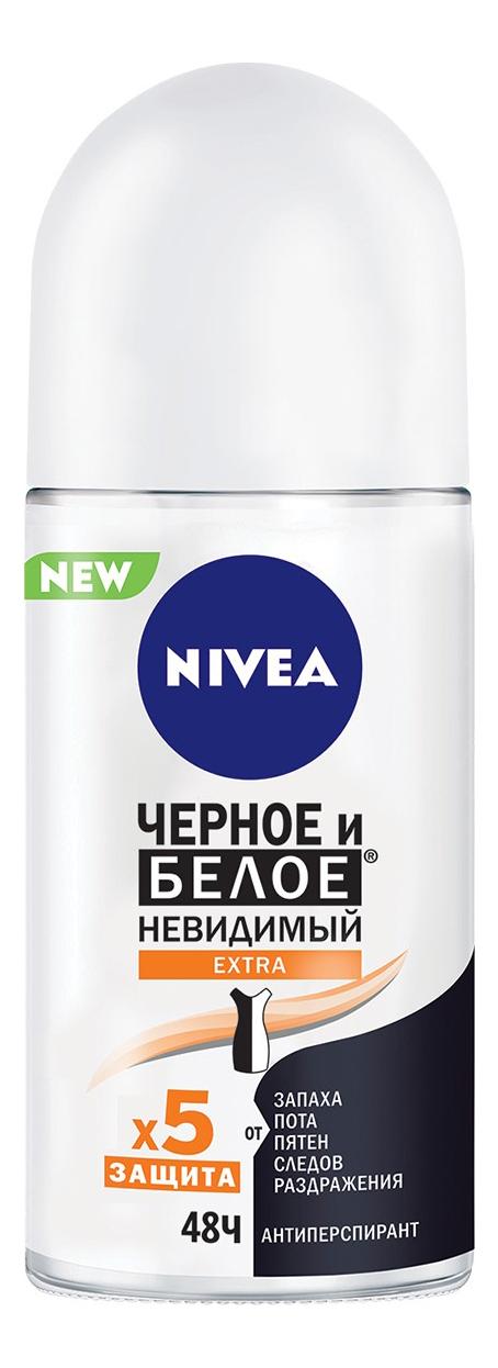 Шариковый дезодорант-антиперспирант Невидимая защита для черного и белого Extra: Дезодорант 50мл недорого