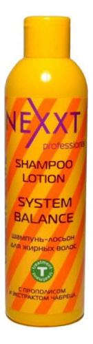 Купить Шампунь-лосьон для жирных волос Shampoo Lotion System Balance: Шампунь 250мл, NEXXT Professional
