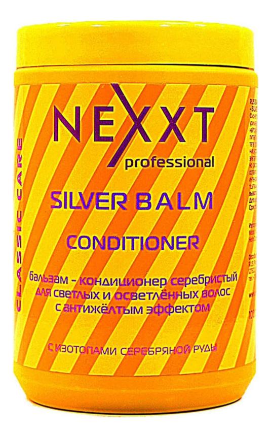 Бальзам-кондиционер серебристый для светлых и осветленных волос Silver Balm Conditioner: Бальзам-кондиционер 1000мл кондиционер для светлых и седых волос ds blonde conditioner кондиционер 1000мл