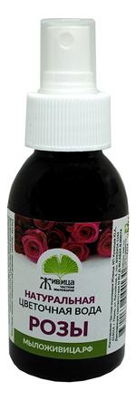 Фото - Натуральная цветочная вода Розы: Вода 100мл натуральная цветочная вода для лица очищающая и тонизирующая чайное дерево 100мл