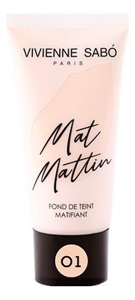 Матирующий тональный крем для лица Fond De Teint Matifiant Mat Mattin 25мл: No 01 недорого