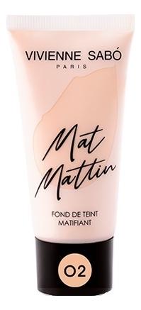 Матирующий тональный крем для лица Fond De Teint Matifiant Mat Mattin 25мл: No 02 недорого