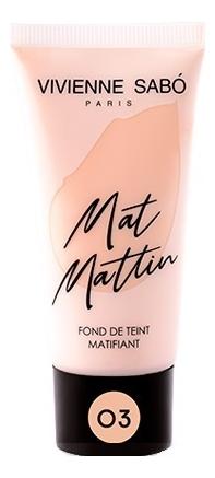 Купить Матирующий тональный крем для лица Fond De Teint Matifiant Mat Mattin 25мл: No 03, Vivienne Sabo