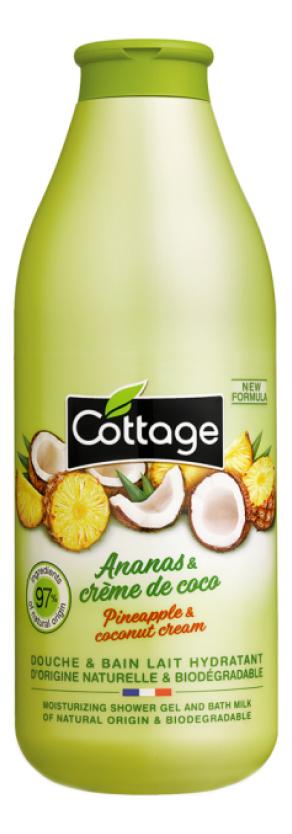 Купить Увлажняющее молочко для душа Moisturizing Shower Milk Pineapple & Coconut Cream 250мл, Увлажняющее молочко для душа Moisturizing Shower Milk Pineapple & Coconut Cream 250мл, Cottage