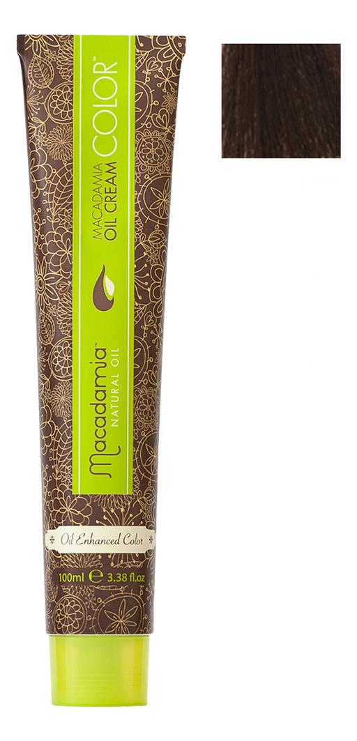 Краска для волос Oil Cream Color 100мл: 4 Средний каштановый chi luxury black seed oil curl defining cream gel