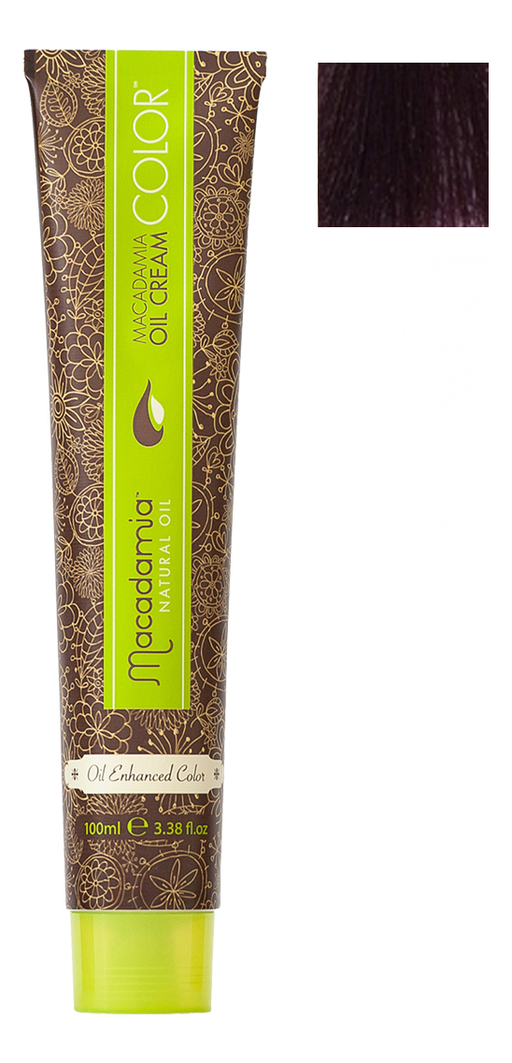 Краска для волос Oil Cream Color 100мл: 4.2 Средний радужный каштановый chi luxury black seed oil curl defining cream gel
