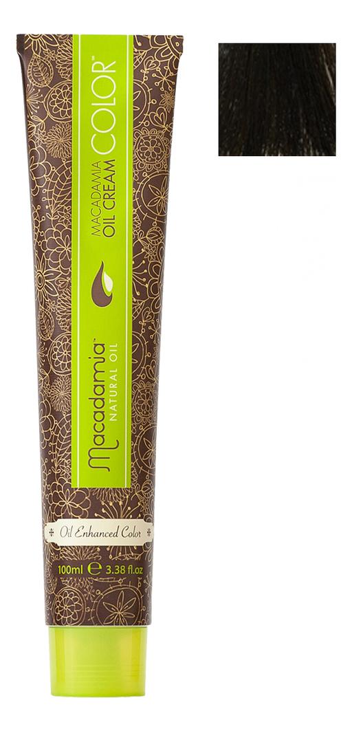 Краска для волос Oil Cream Color 100мл: 4/2 Средний зелено-матовый каштановый chi luxury black seed oil curl defining cream gel