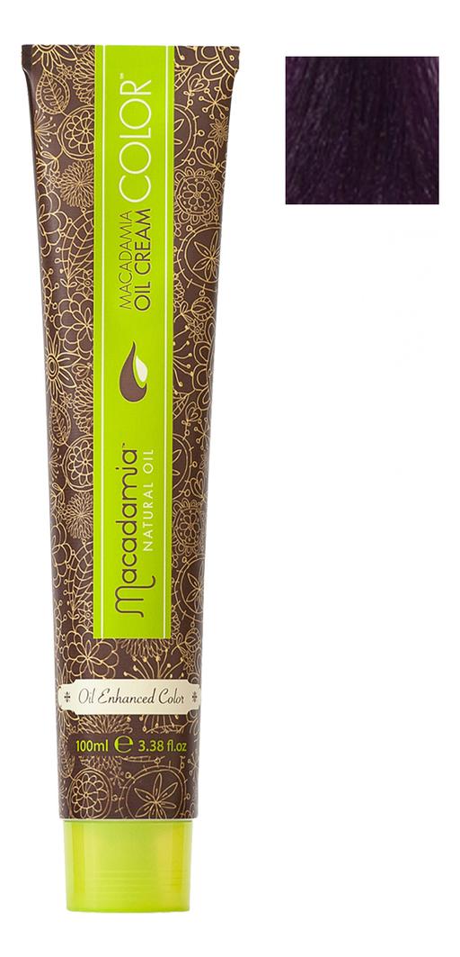 Купить Краска для волос Oil Cream Color 100мл: 5.222 Экстра яркий радужный светло каштановый, Macadamia