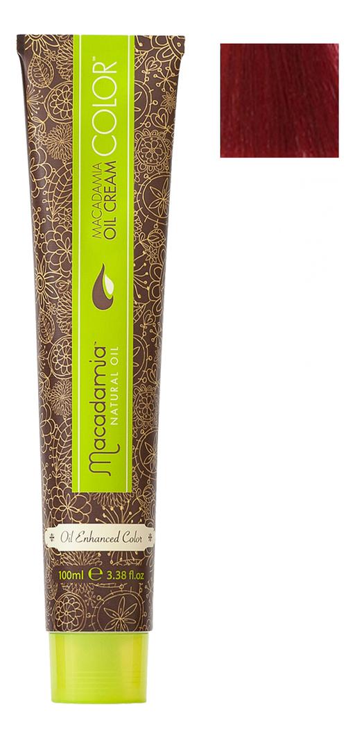 Купить Краска для волос Oil Cream Color 100мл: 5.666 Экстра-яркий красный светло каштановый, Macadamia