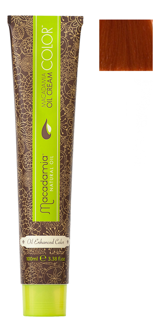 Краска для волос Oil Cream Color 100мл: 7.444 Экстра яркий медный средний блондин chi luxury black seed oil curl defining cream gel