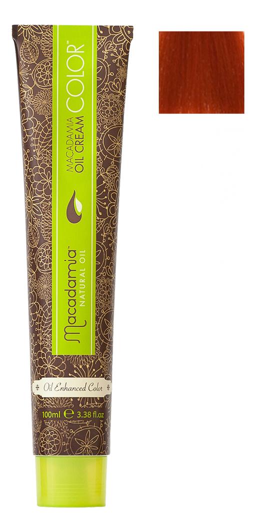 Краска для волос Oil Cream Color 100мл: 7.446 Яркий медный красный средний блондин chi luxury black seed oil curl defining cream gel
