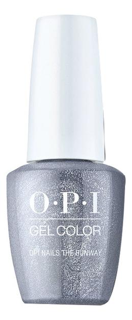 Фото - Гель-лак для ногтей Gel Color 15мл: OPI Nails the Runway закрепляющее покрытие гель для ногтей супер блеск super gloss gel 15мл