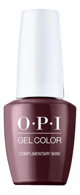 Фото - Гель-лак для ногтей Gel Color 15мл: Complimentary Wine закрепляющее покрытие гель для ногтей супер блеск super gloss gel 15мл
