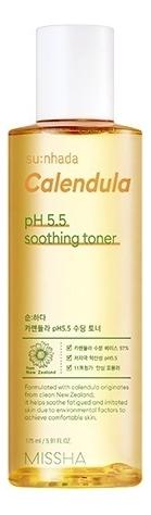 Успокаивающий тонер для лица с календулой Su:Nhada Calendula pH Balancing  Soothing Toner 175мл