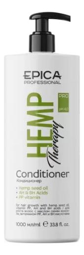Купить Кондиционер для роста волос с маслом семян конопли Hemp Therapy Organic: Кондиционер 1000мл, Epica Professional