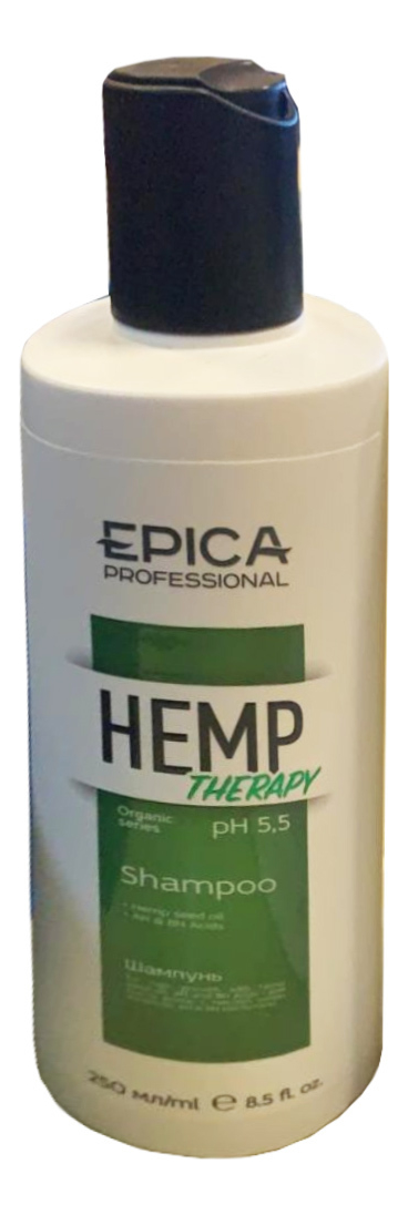 Купить Шампунь для роста волос с маслом семян конопли Hemp Therapy Organic: Шампунь 250мл, Epica Professional