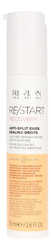 Капли для запечатывания секущихся кончиков Restart Recovery Anti-Split Ends Sealing Drops 50мл