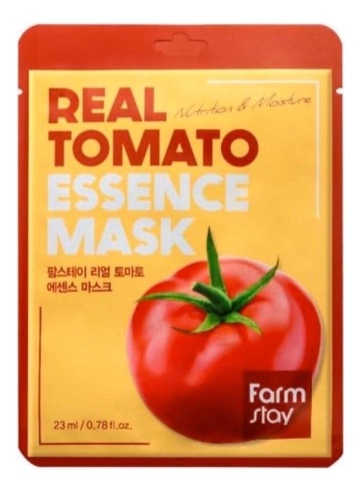 Купить Тканевая маска для лица с экстрактом томата Real Tomato Essence Mask 23мл: Маска 5шт, Farm Stay