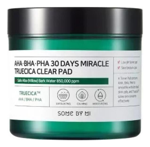 Очищающие пэды для лица AHA-BHA-PHA 30 Days Miracle Truecica Clear Pad 70шт