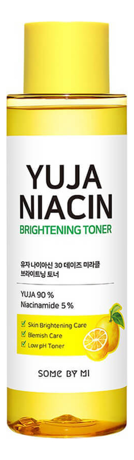 Осветляющий тонер для лица с экстрактом юдзу Yuja Niacin 30 Days Miracle Brightening Toner 150мл недорого