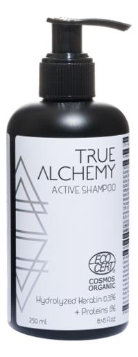 Купить Активный шампунь для волос Active Shampoo Hydrolyzed Keratin 0, 3% + Proteins 1% 250мл, True Alchemy