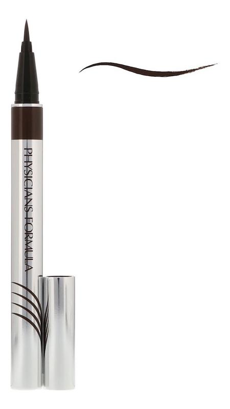 Купить Подводка водостойкая с комплексом для роста ресниц Eye Booster Ultra-Fine Liquid Eyeliner 0, 5мл: Ультра-черный, Physicians Formula