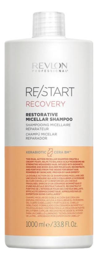 Мицеллярный шампунь для поврежденных волос Restart Recovery Restorative Micellar Shampoo: Шампунь 1000мл