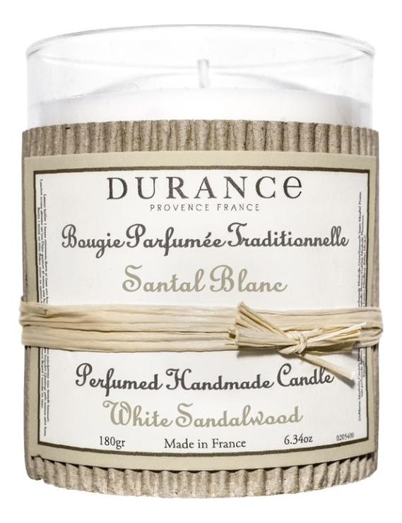 Ароматическая свеча Perfumed Handmade Candle White Sandalwood 180г (белый сандал)