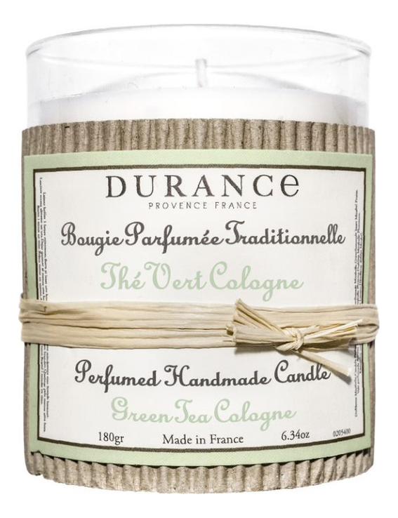 Купить Ароматическая свеча Perfumed Handmade Candle Green Tea Cologne 180г (зеленый чай), Durance